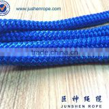 Braided blue barrier rope, rope stanchion, stanchions and ropes