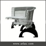 Arlau Cast Aluminum Patio Sets,Steel Bench Benches For Public Park,Iron Garden Bench Chair