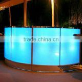 5V plastic LED furniture/ led furniture design & cafe bar table counter/LED plastic furniture