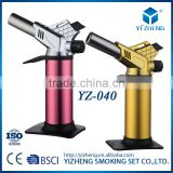 YZ-040 HIGH QUALITY ADJUSTABLE FLAME REFILLABLE JET FLAME BUTANE GAS BBQ CAMPING CULINARY KITCHEN BLOW TORCH LIGHTER