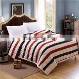 2016 fashion style plaid stripes summer comforter/quilts/blanket/king queen full twin size free shipping
