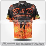 Athletic custom racing jerseys sublimation button down racing shirts offical club motor suits