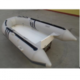 Samll Rigid Hull Fiberglass Inflatable Boat 3.3m PVC Material Fishing Boat
