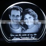Young couple 2D laser engraving crystal