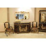 Console table decorations wood console table with mirror Italian style antique wall table
