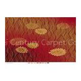 Red nylon Axminster Patterned Carpets For Living Room , Economy Hotel Carpet