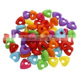 Latest design beads necklace solid color heart acrylic bead