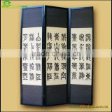Colorful elegant folding waterproof canvas screen bamboo folding screen sliding doors interior room divider GVLB03