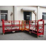 Red 90 Degree Steel Powered High Working Suspended Platform Cardle for Building Cleaning