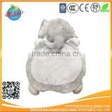 Kids play gym mat promotional soft plush animal elephant toy baby washable mat