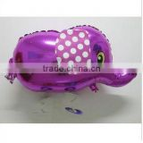 Walking pet elephant shaped mylar helium aluminium foil balloon