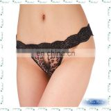 Black Lace Ladies new fashion Sexy Lingeriein G-strings pussy open thongs