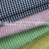 different color seersucker fabric wholesale check pattern manufacture
