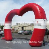 Hot sale inflatable heart shaped wedding arch for wedding