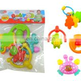 Baby Infant Rattles Bell Toy 4 Pieces Play Set with PVC Bag