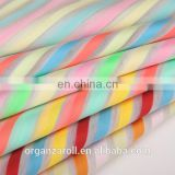 2016 popular stripe iridescent organza fabric for stage costume