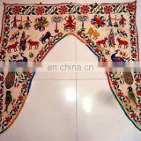 Indian Hand Vintage Embroidered Door Hanging Cotton Ganesha Toran Window Good luck Valance Topper Toran door hanging wholesale
