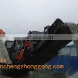 Portable crushing station,mobile crushing plant,movable crusher machine