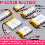 Polymer Lithium-ion rechargeable battery  082030,103048,103450,102050