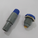 Push pull plastic 40 degree circular plug and socket connectors 5pin with blue nuts