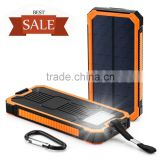 Hot sale Solar power bank 30000mah portable LED Camp Light solar battery for all digital products charging outdoor lighting