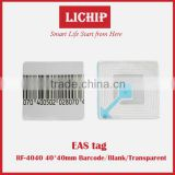 Anti-lost RF for garment/ wine bottle security 40*40mm 30*40mm 8.2Mhz/58Khz EAS label EAS tag