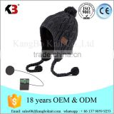 Unisex cool cap winter warm cashmere knitted music headphone beanie hat