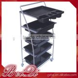 Beiqi Wholesale Plastic Salon Trolley Cart with Side Pull Out and Three Holes for Hair Dryer for Sale