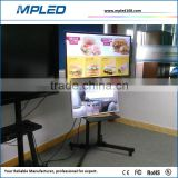 Wifi control/3G control/4G control advertising lcd tv on the floor support forQC inspection in factory