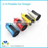 Hot colorful cheap mini size single usb port mini car charger for smartphone , Compatible with all digital devices oem logo
