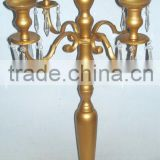 5 Arm Beads Candelabra Table Centerpiece for Hdome an Wedding Decoration/ Aluminium floor standing candelabra