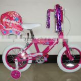 HH-K1413 14 inch kids bmx bicycle with baby seat mainly for girls bicycle