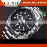 Hot Sale High Quality Newest Cheap Day/Date Chinese Nice Quartz Watch Men