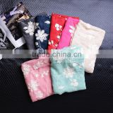 Wholesale Korea Fashion Ladies Cotton Flower Embroidery Shawls                                                                         Quality Choice