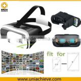 For mobile phone, 2nd Google VR BOX 3D Video Glasses Virtual Reality Glasses+Remote Controller White