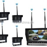 12V to 48V Wireless Digital 4CH 9inch Rear View Forklift Camera System with Night Vision and 4 Audio Output