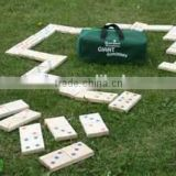 wooden giant wooden color dominos for kids and adult with BSCI ,indoor or outdoor game set