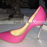 Sexy fetish high heels top shoes high quality hotpink shoes ladies heels 2016 fashion heels