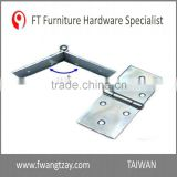 Taiwan Supplier 95 x 41 x 1.5 mm	High Quality Durable Household Hardware Door Cabinet Hinge