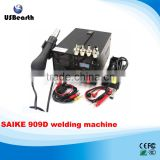 High quality !!! bga welding machine SAIKE 909D 3IN1 REWORK STATION Hot Air Gun SMD Soldering Iron Power Supply welding machine