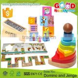 High Quality Kids Dominos and Jenga Toy Set Wooden Educational Jenga & Domino for Sale