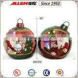 "9.8"" wholesale christmas ball ornament, resin Christmas sphere, led large Christmas balls"