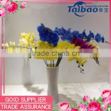 House decorative real touch long stem 9 heads artificial latex orchid flower