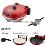 Adjustable timer Viewing window Variable temperature electric Oven Stone Pizza cone maker machine