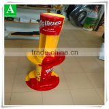 Thermoforming M&M chocolate plastic advertising display stand