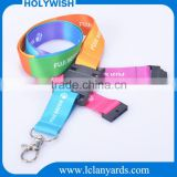 Custom cord rope lanyard safety plastic breakaway