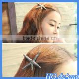 Korea hair ornaments head ornaments high-grade metal starfish shaped hairpin spring clip bangs hair clips MHo-51