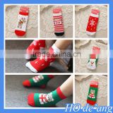 Hogift hot selling baby socks thick warm terry socks combed cotton Christmas baby socks MHo-198
