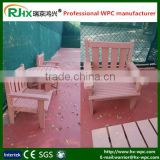 Chinese traditional tea set made by eco-friendly and healthy wpc material chairs and tables