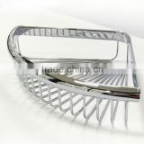 Chrome Wall mounted Bathroom Shelves Corner Shower caddy Storage Organizer Cosmetic Basket Shelf Accessories